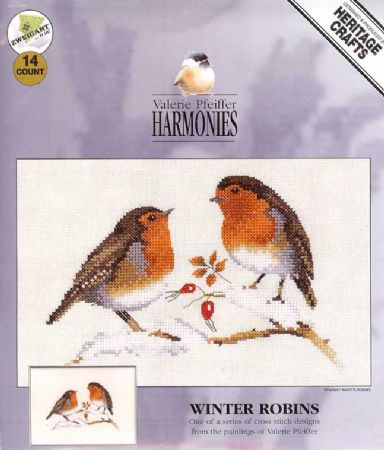 Winter Robins Counted Cross Stitch Kit